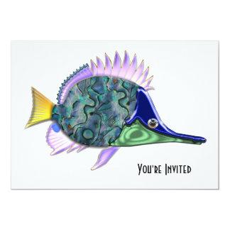 Multicolored Shiny Tang Tropical Fish Card