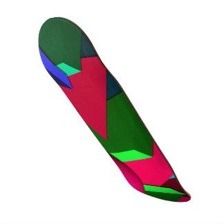 Multicolored skateboard