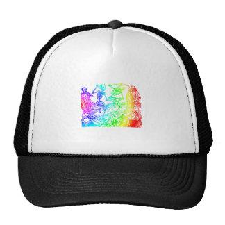 Multicolored Skeleton Dance Hat
