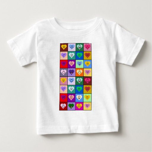 Multicolored Smiley Hearts Infant T-shirt