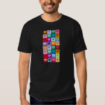Multicolored Smiley Hearts Tee Shirt
