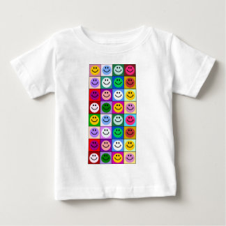 Multicolored Smiley Squares Baby T-Shirt