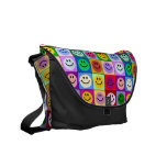Multicolored Smiley Squares bag Courier Bag