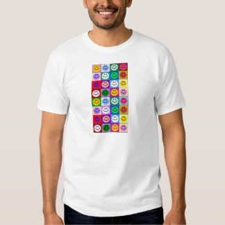 Multicolored Smiley Squares T-shirt