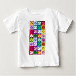 Multicolored Smiley Squares Tshirt