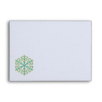 Multicolored Snowflake 1 Envelope