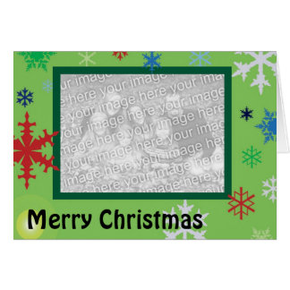 Multicolored Snowflakes Cards