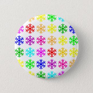 Multicolored Snowflakes Round Pinback Button