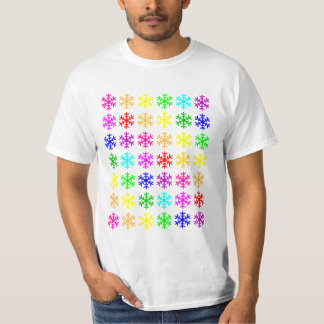 Multicolored Snowflakes T-Shirt