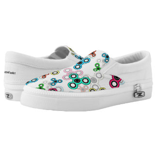 Multicolored spinners Slip-On sneakers