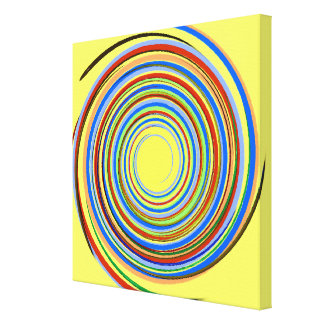 Multicolored spiral stretched canvas print