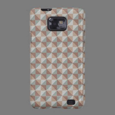 Multicolored square and triangle pattern samsung galaxy SII cover