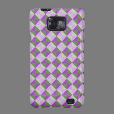 Multicolored square and triangle pattern galaxy SII cover
