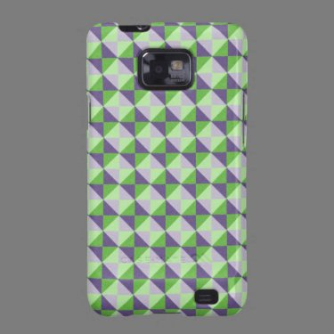 Multicolored square and triangle pattern galaxy s2 covers