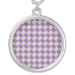 Multicolored square and triangle pattern pendant