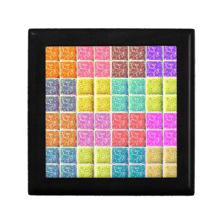 Multicolored Square Artistic Pattern Gift Box