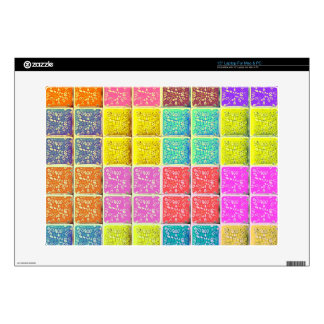 Multicolored Square Artistic Pattern Laptop Skins