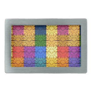 Multicolored Square Blanket  Embroidery Pattern Belt Buckles