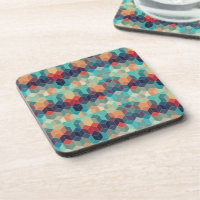 Multicolored Squared Abstract Pattern Coasters (<em>$30.95</em>)