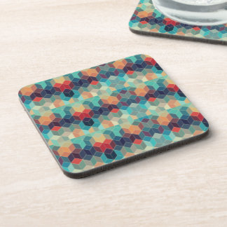 Multicolored Squared Abstract Pattern Coasters