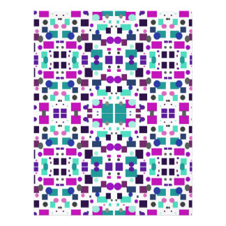 Multicolored Squares and Circles Collage Letterhead