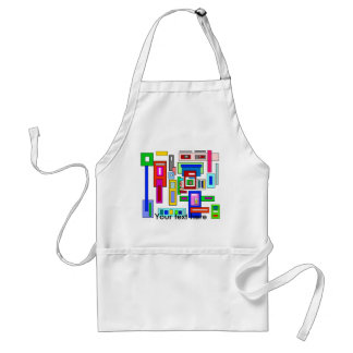 Multicolored squares and rectangles adult apron