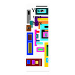 Multicolored squares and rectangles on white Double-Sided mini business cards (Pack of 20)