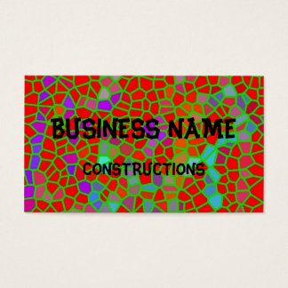Multicolored stained glass business card