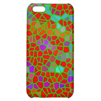 Multicolored stained glass cover for iPhone 5C