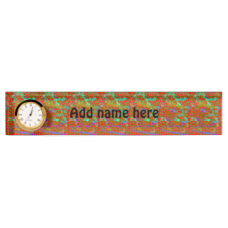 Multicolored stained glass desk name plate