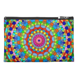 Multicolored Stained Glass Kaleidoscope Travel Accessory Bag