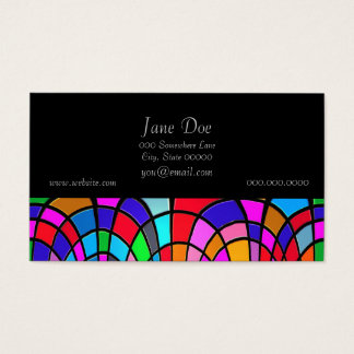 Multicolored Stained Glass Mosaic Abstract Art Business Card