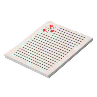 Multicolored stained glass note pad