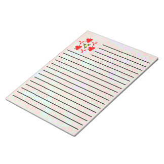 Multicolored stained glass notepad