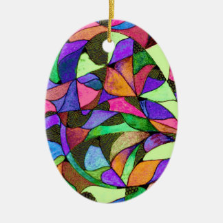 Multicolored Stained Glass Ornament
