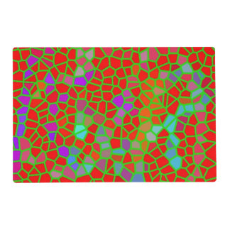 Multicolored stained glass placemat