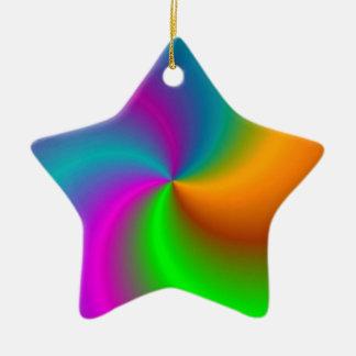 Multicolored star décorations de noël