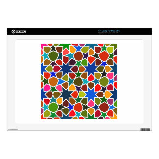 """Multicolored Star Pattern - Silk Painting inspired 17"""" Laptop Skins"""