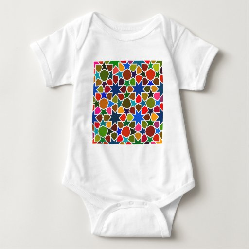 Multicolored Star Pattern - Silk Painting inspired Baby Bodysuit