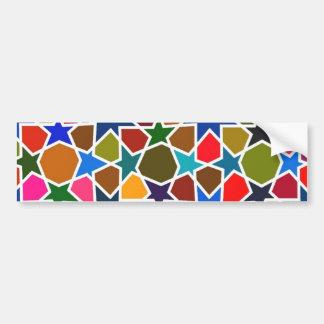 Multicolored Star Pattern - Silk Painting inspired Bumper Sticker