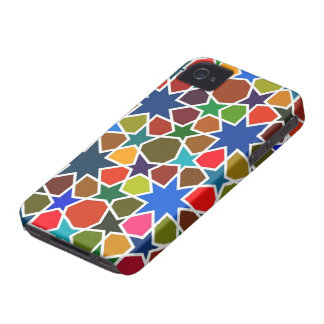 Multicolored Star Pattern - Silk Painting inspired Case-Mate iPhone 4 Case