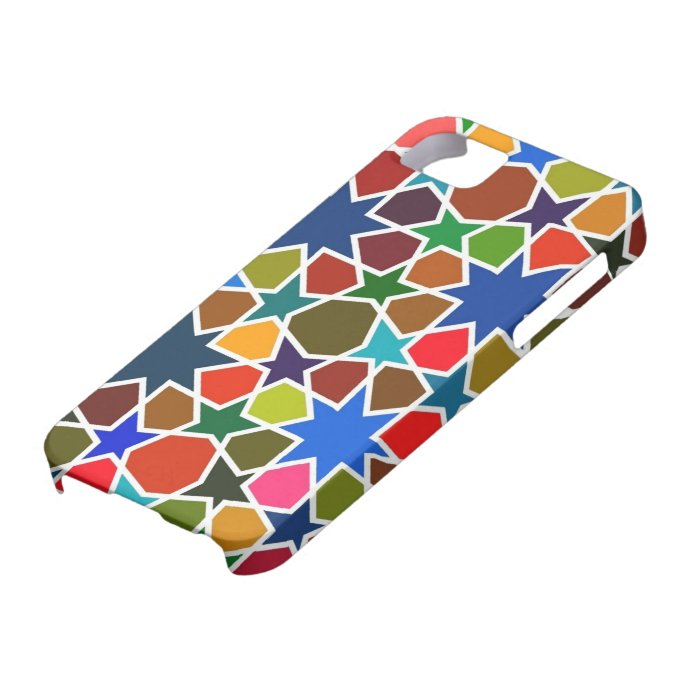 Multicolored Star Pattern - Silk Painting inspired iPhone SE/5/5s Case