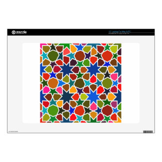 Multicolored Star Pattern - Silk Painting inspired Laptop Decals