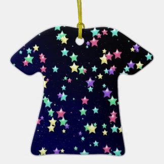 Multicolored Stars Christmas Ornaments