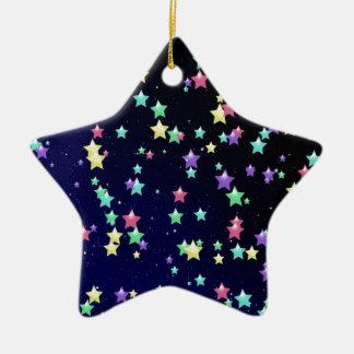 Multicolored Stars Christmas Tree Ornaments