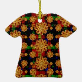 Multicolored Stars Motif Pattern Christmas Ornaments