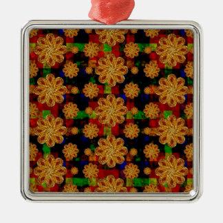 Multicolored Stars Motif Pattern Ornaments