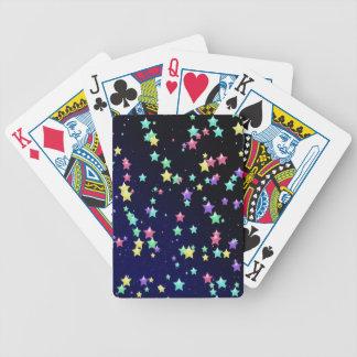 Multicolored Stars Poker Cards