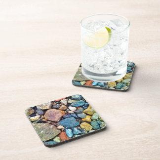 Multicolored Stones Drink Coaster