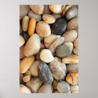 Multicolored stones poster